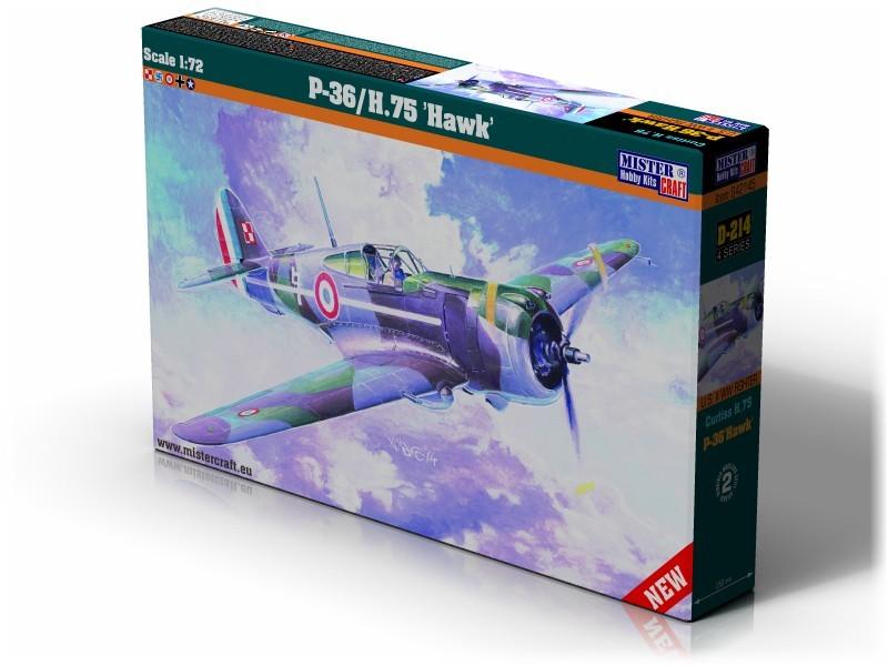 D-214 P-36 H.75 Hawk   1:72
