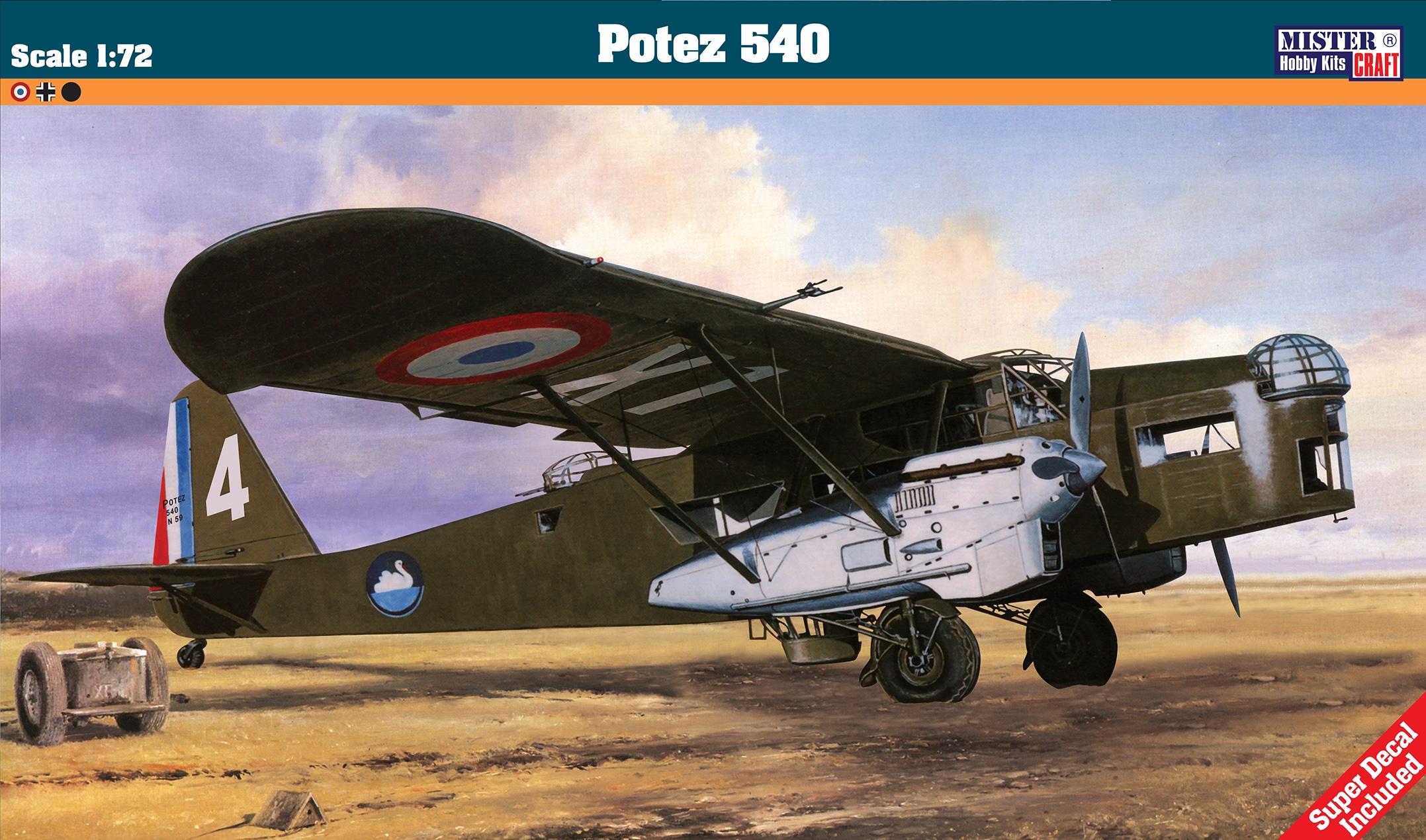 Mistercraft F-51-1:72 Potez 540 Neu