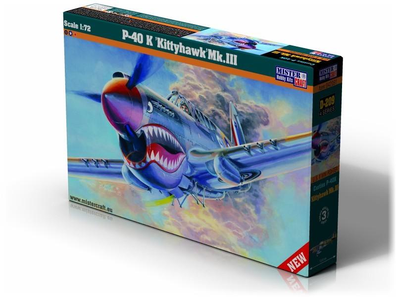 D-220 P-40 K Kittyhawk Mk.III   1:72