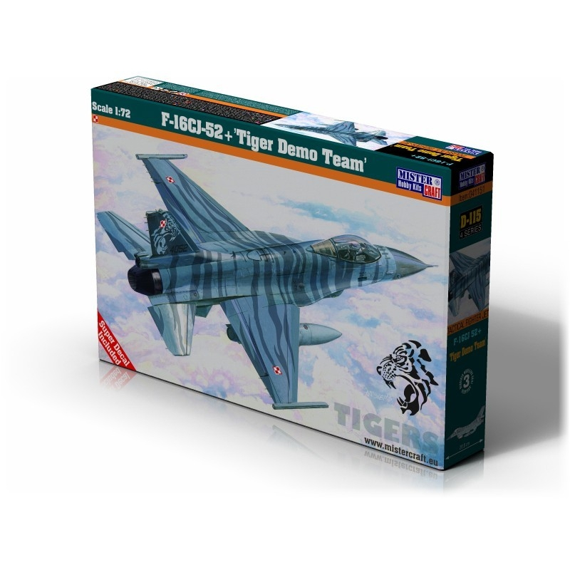 D-115 F-16CJ-52 Tiger Demo Team   1:72