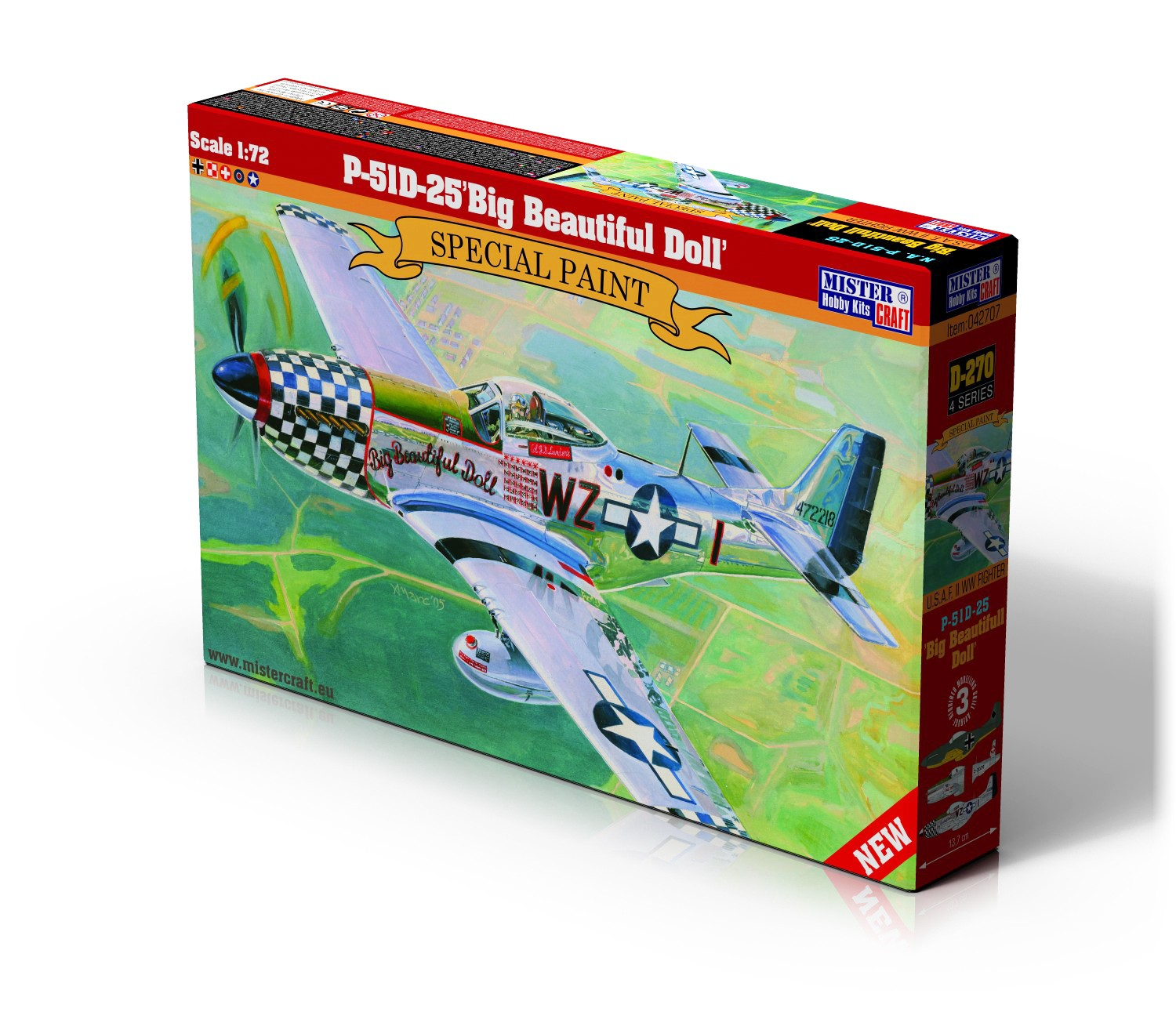 D-270 P-51D-25 Big Beautiful Doll   1:72