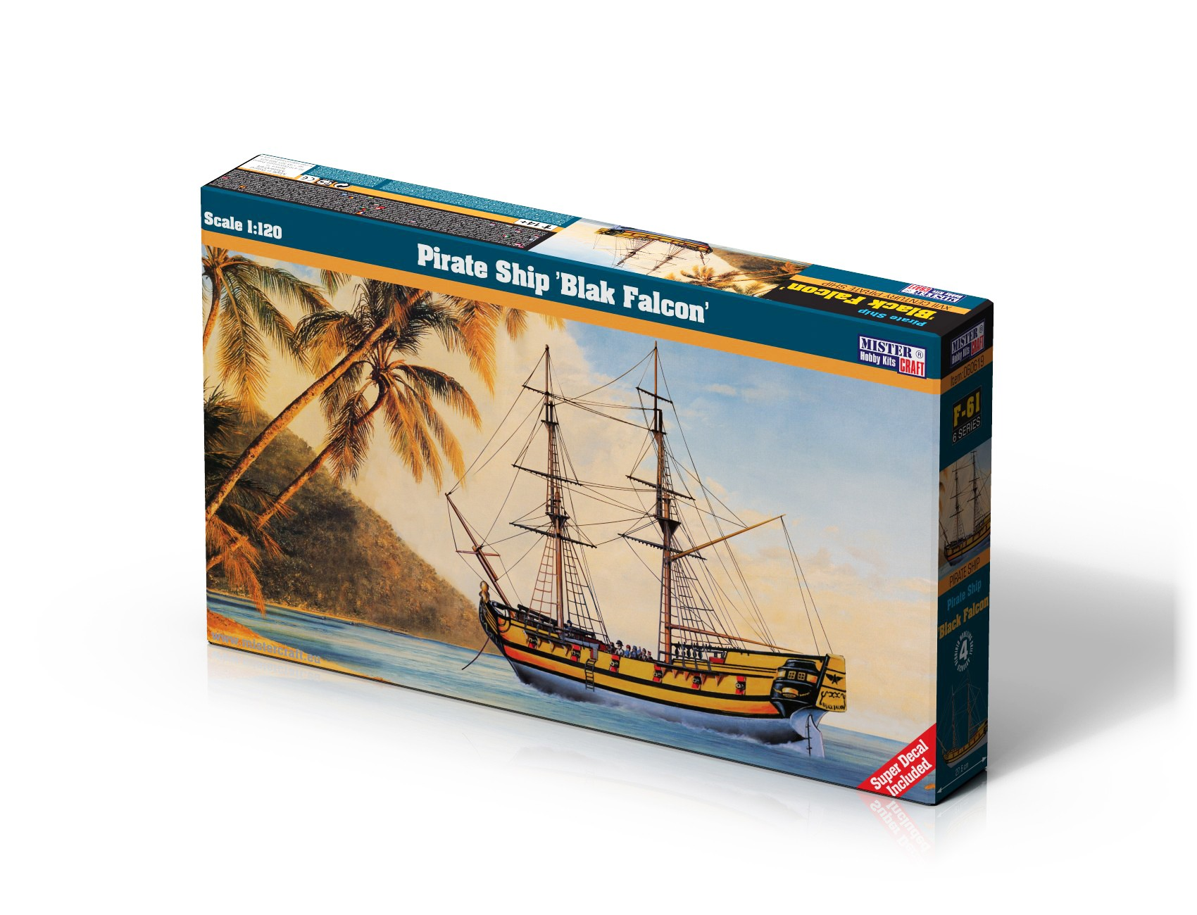 F-61 Pirate Ship Black Falcon   1:120