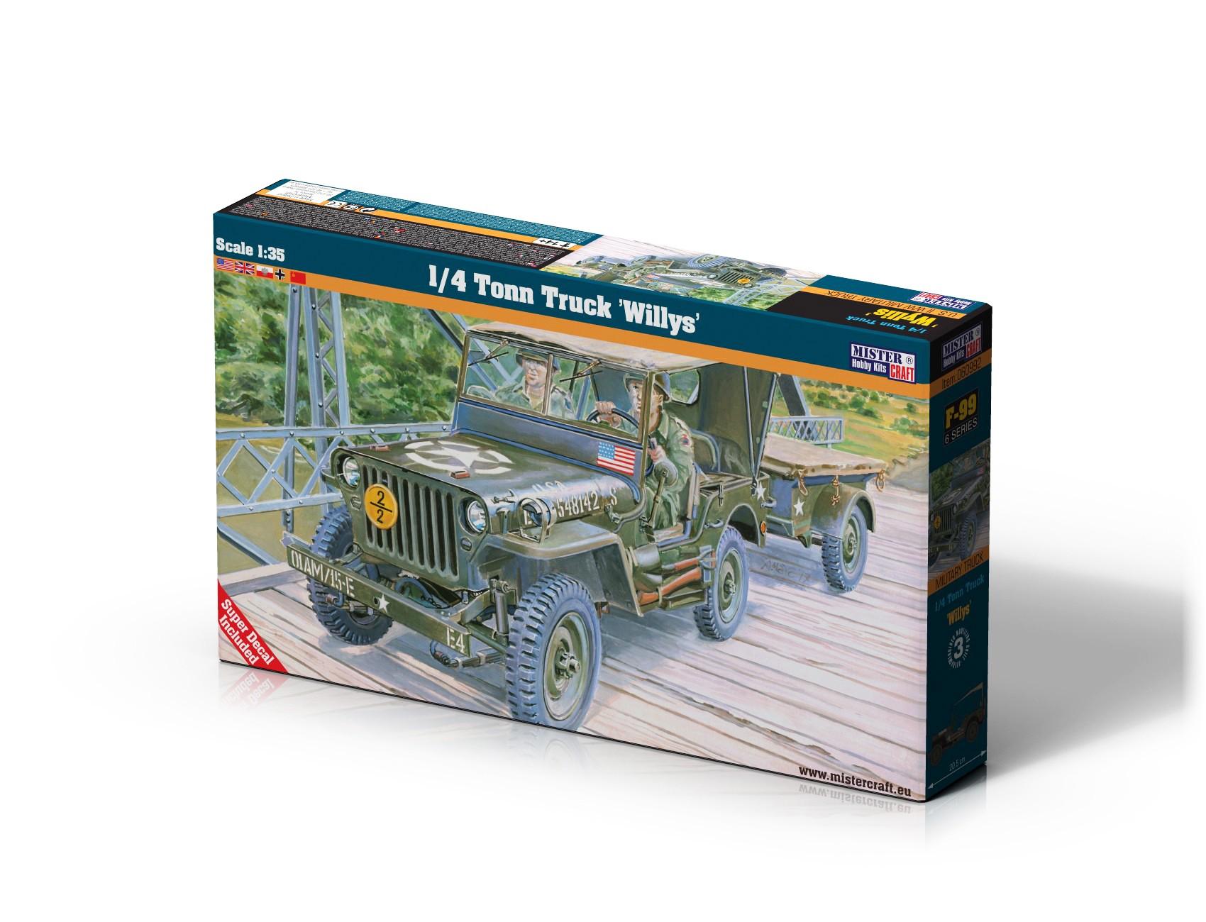 F-299 1/4 Tonn Truck Willys   1:35