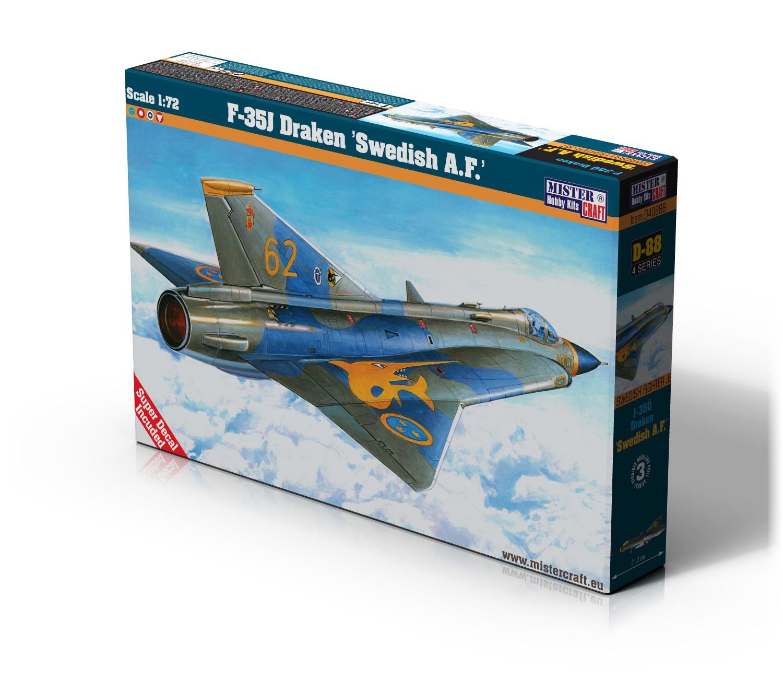 D-88 F-35J Draken Swedish A.F   1:72