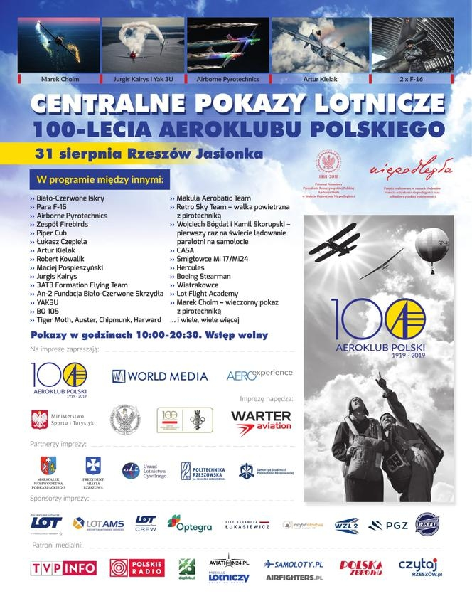 Central Air Shows of the 100th anniversary of the Polish Aeroclub